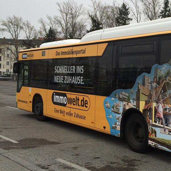 Verkehrsmittelwerbung, Kabus, Werbetechnik